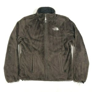 The North Face Brown Monkey Man Fuzzy Fleece Coat